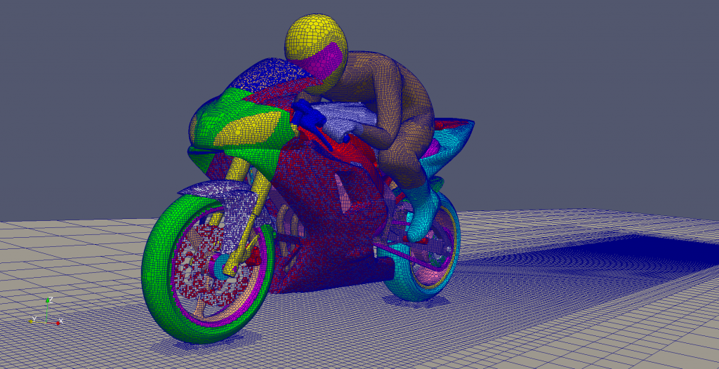 OpenFOAM's Motorcycle Test Case